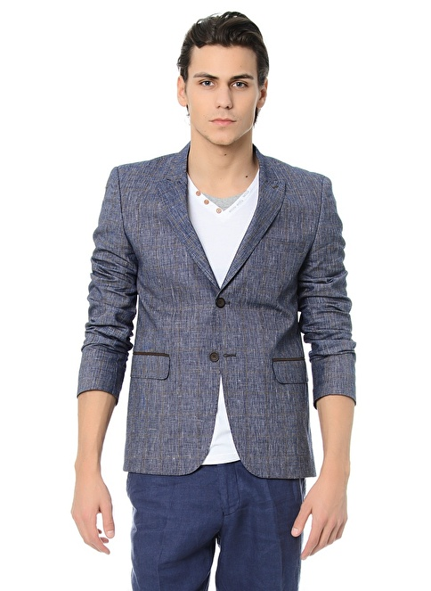 Dewberry Slim Fit Blazer Ceket Lacivert